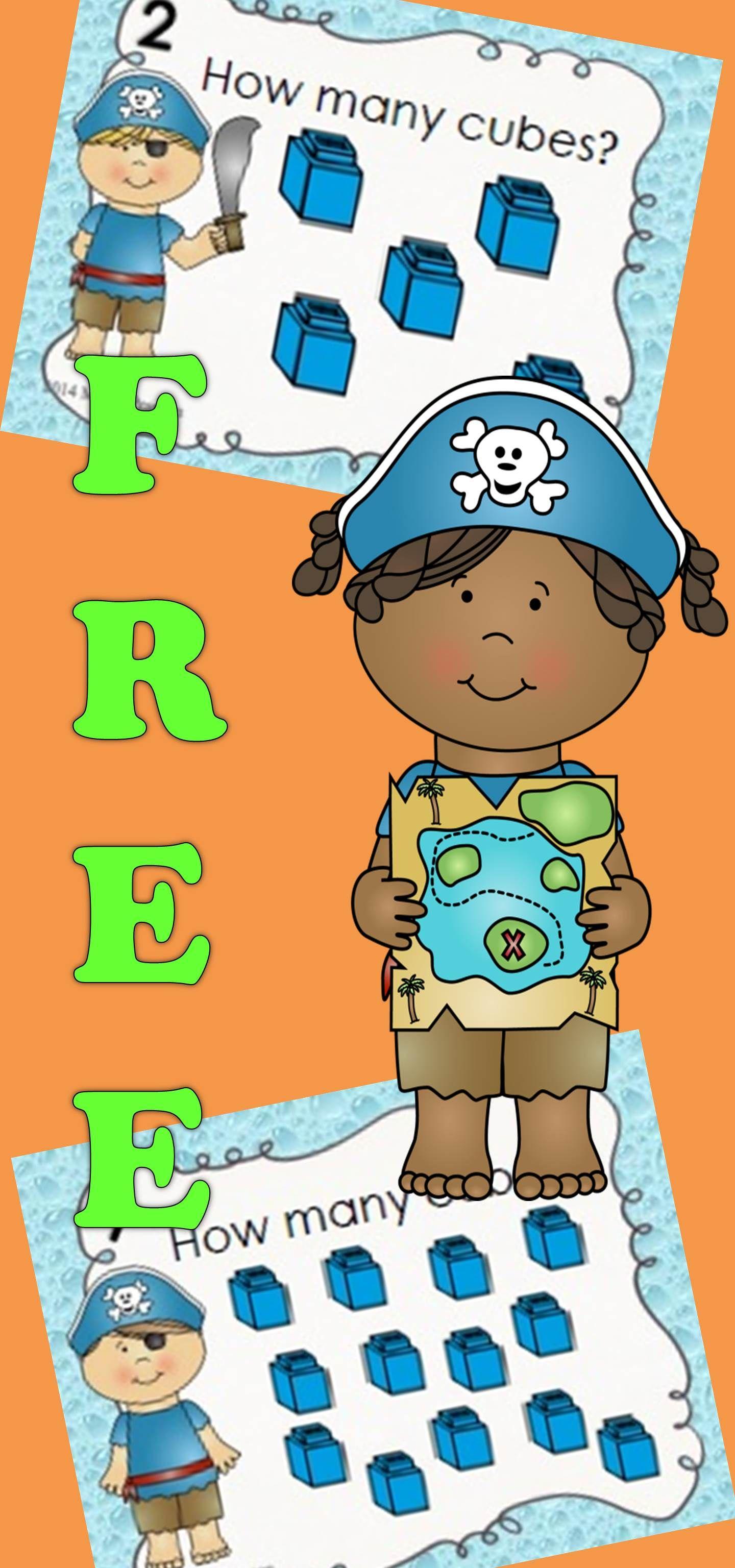 Free Pirate Counting Task Cards Math Activities Preschool Preschool Math Kindergarten Fun [ 3072 x 1440 Pixel ]