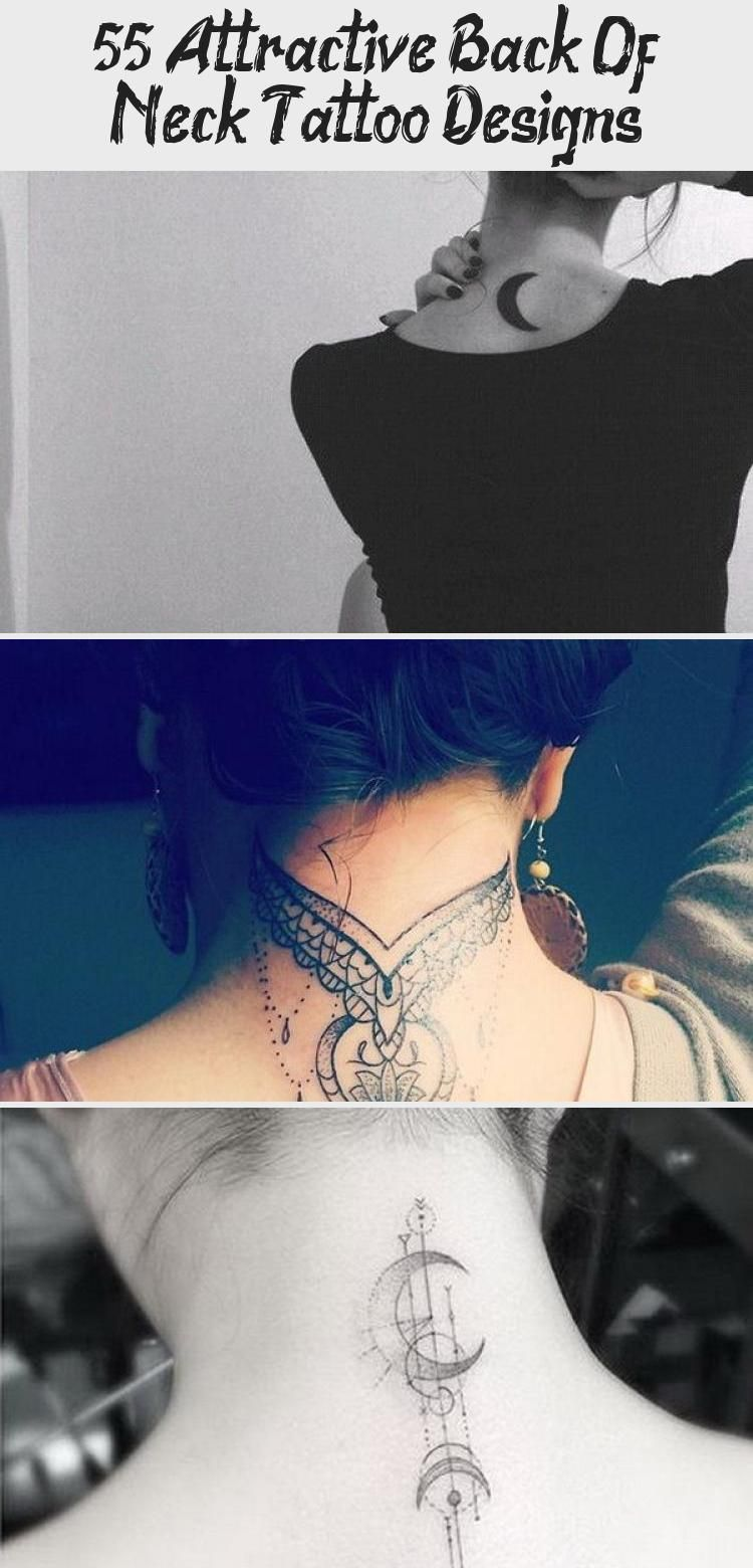 55 Attractive Back Of Neck Tattoo Designs Best Tattoos 55 Attractive Back Of Neck Tattoo Designs For Crea In 2020 Back Of Neck Tattoo Cool Tattoos Neck Tattoo