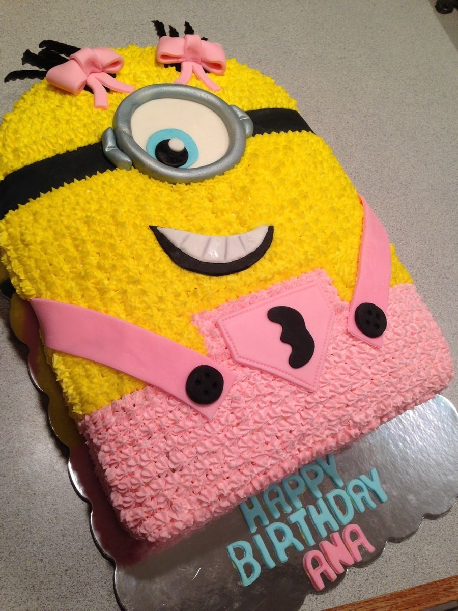 Girly Minion Cake On Cake Central Party Ideas Pinterest Girl