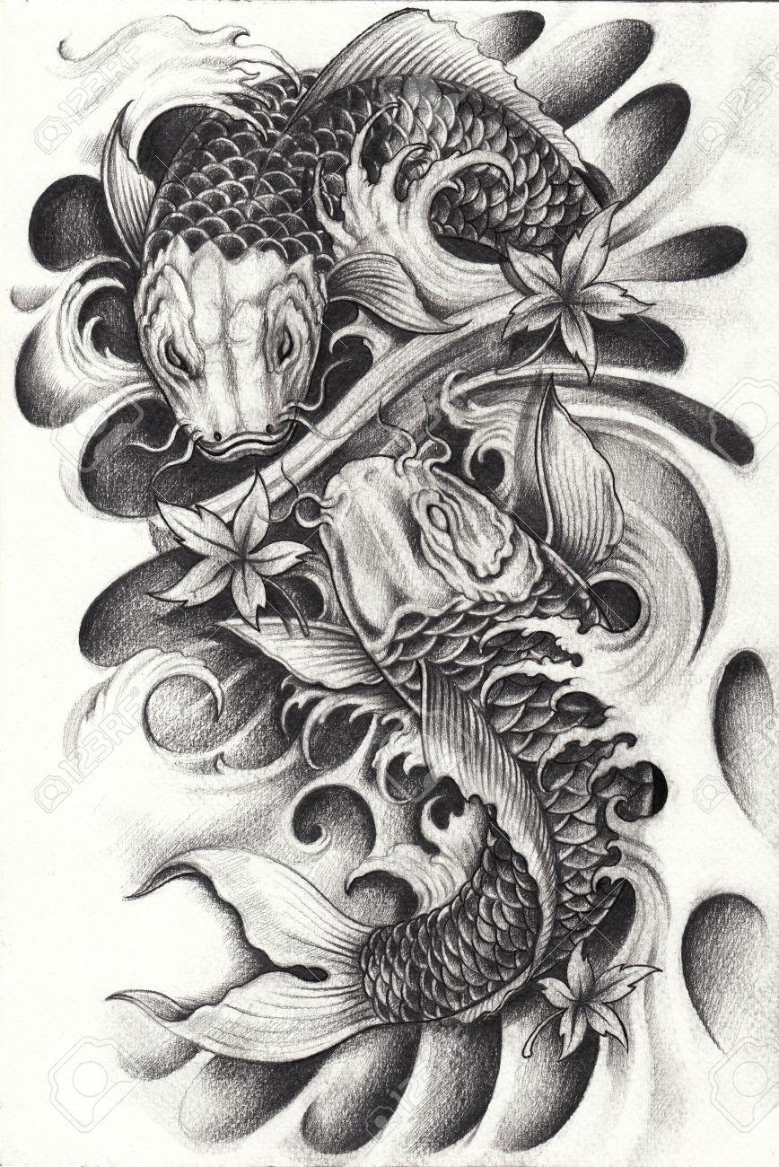 Image result for pez koi dibujo a lapiz | dibujos en 2018 ...