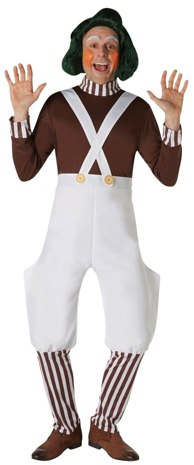 LICENSED OOMPA LOOMPA WILLY WONKA AND CHOCOLATE FACTORY CHILD BOOK WEEK COSTUME