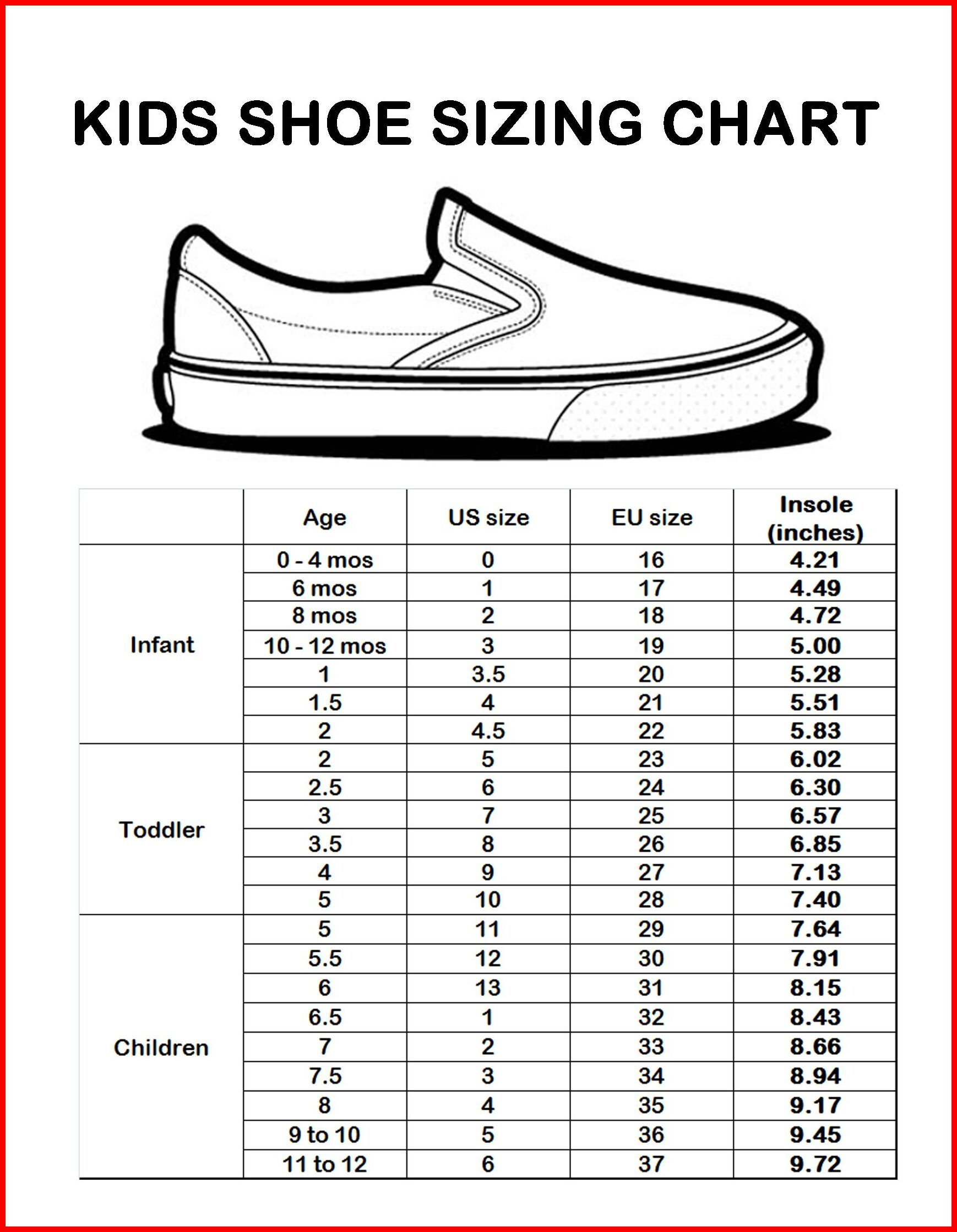 18 month old baby shoe size