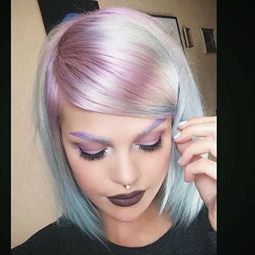 Appealing Short Straight Hairstyle Pics Hair Makeup Nails Dyed