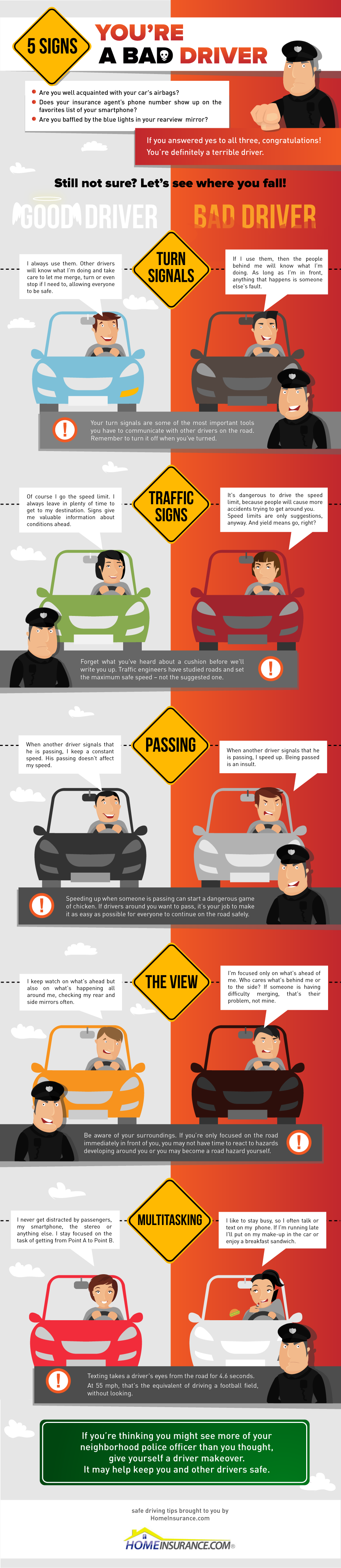 5 Signs You Re A Bad Driver Bad Drivers Safe Driving Tips