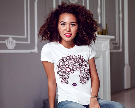 3a945eda9 Natural Hair T-shirt Breezy Distressed Tee Custom Natural Hair Products  Curls & Culture