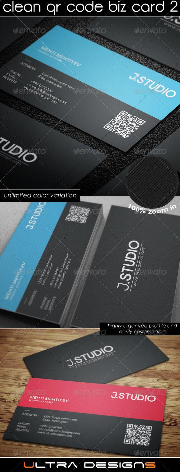 Clean qr code business card reheart Gallery