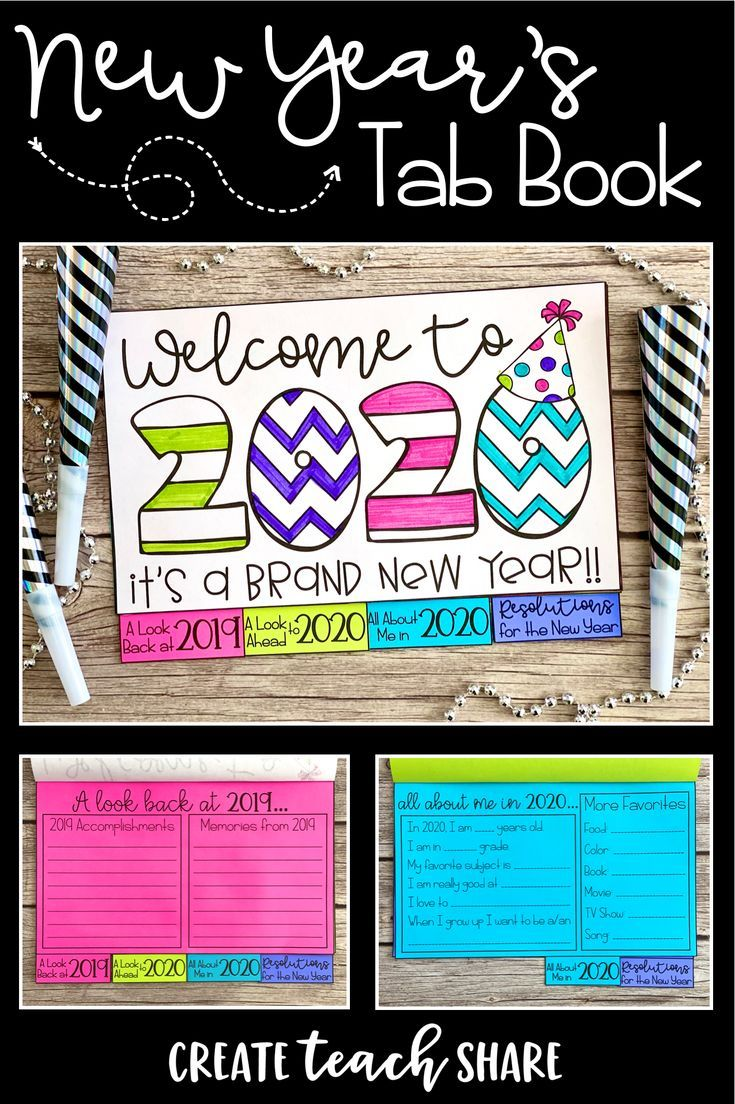 New Year's 2020 Tab Book New years activities, 3rd grade