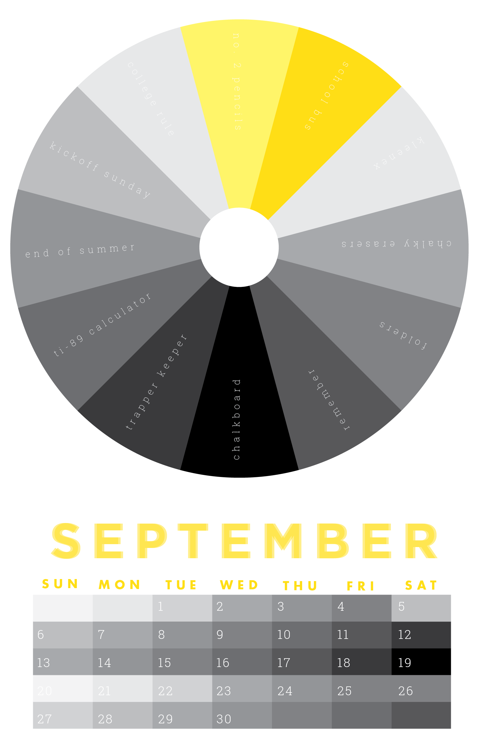8113eed5 The colors of September | 2015 Chromophilia Color Wheel Calendar ...