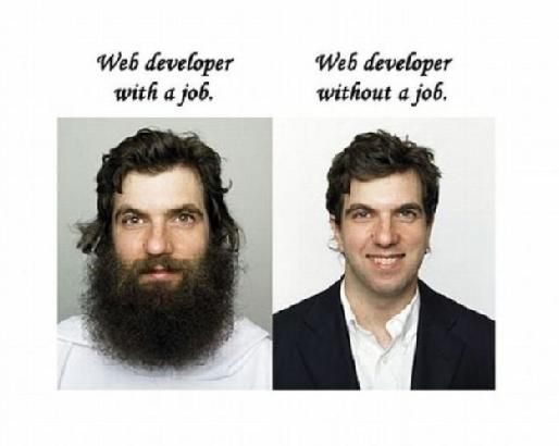 web-developer-with-without-job-tenfold.jpg #DeveloperHumor #ILoveIT