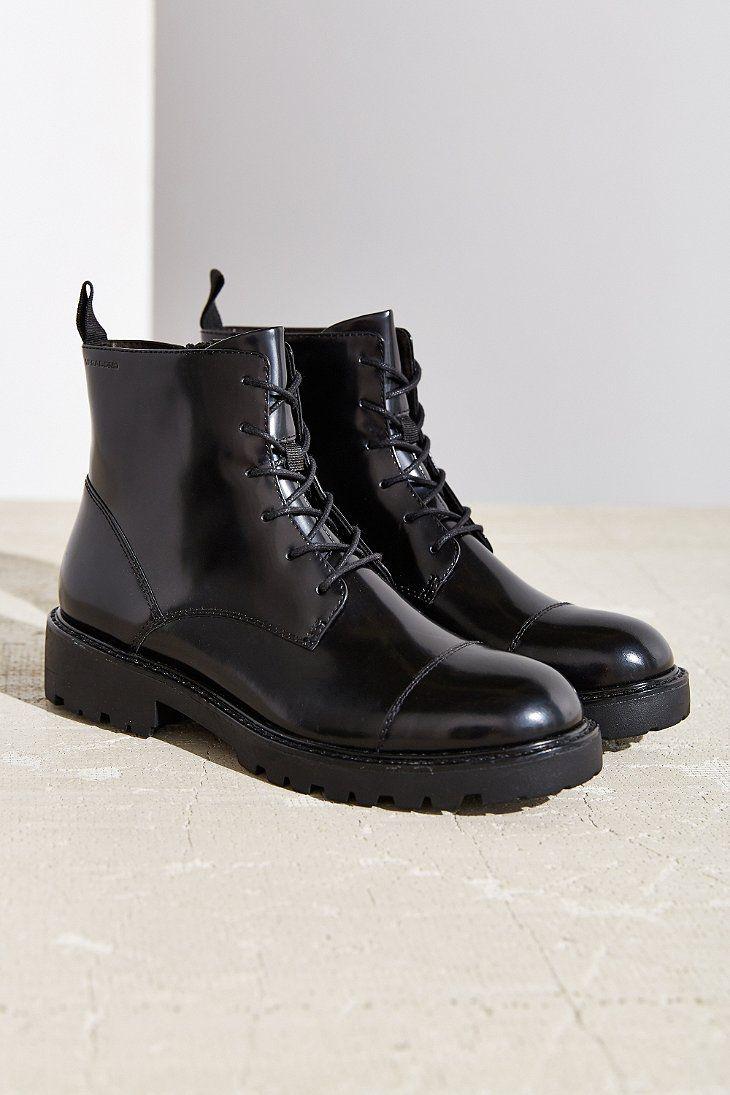 VAGABOND Kenova Damen Combat Boots Stiefeletten schwarz
