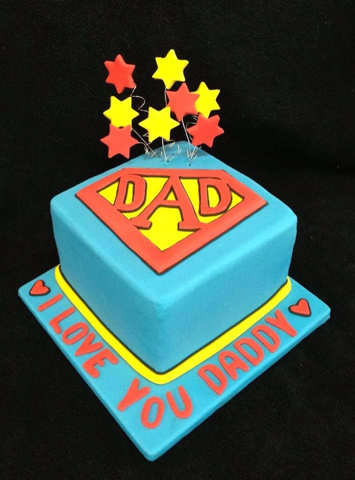 A Super Dad Cake For An Amazing Fathers Day 2013