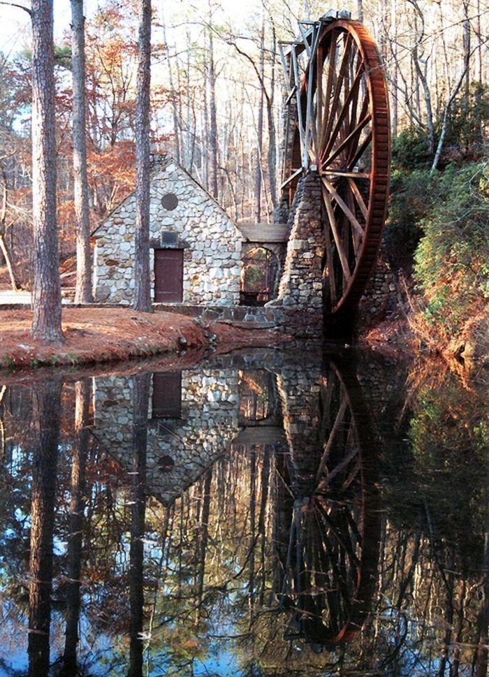 Water Wheel Reflection