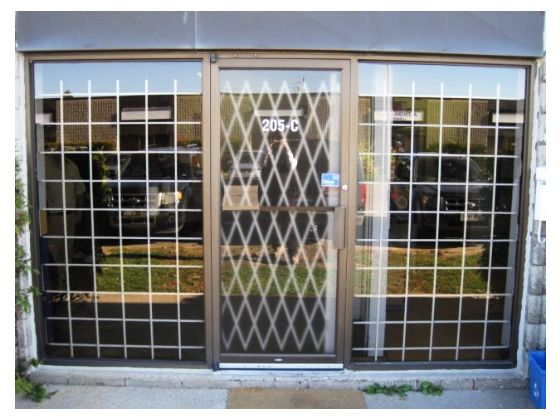 Steel Fixed Window Security Bars, Brown And White Finish, Standards Size,  Recess And