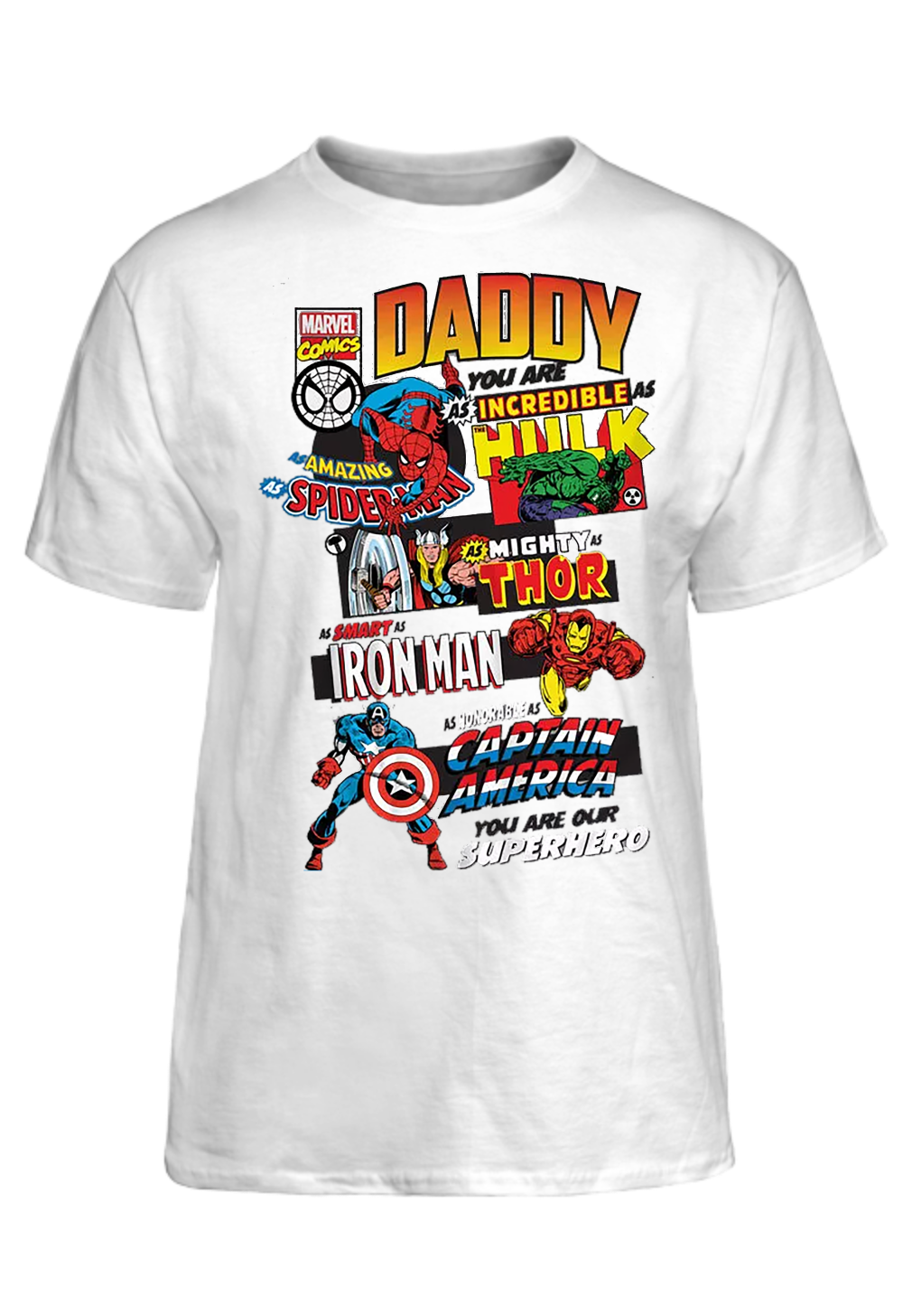 08c7c83f5a5 Marvel Comics Father s Day T-Shirt Basic Tee