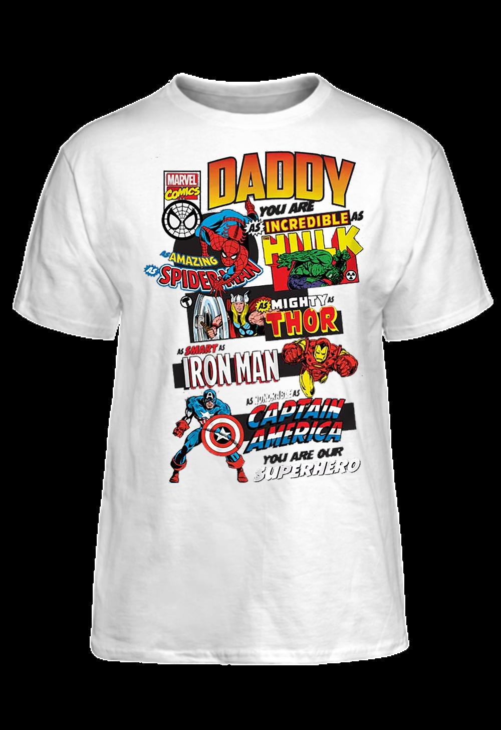 2c5ceb8c Marvel Comics Father's Day T-Shirt Basic Tee | Holiday Decorating ...