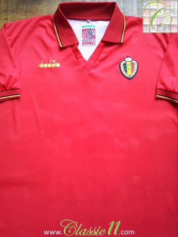 Relive Belgium S 1992 1993 International Season With This Vintage Diadora Home Football Shirt Shirts Football Shirts Mens Tops