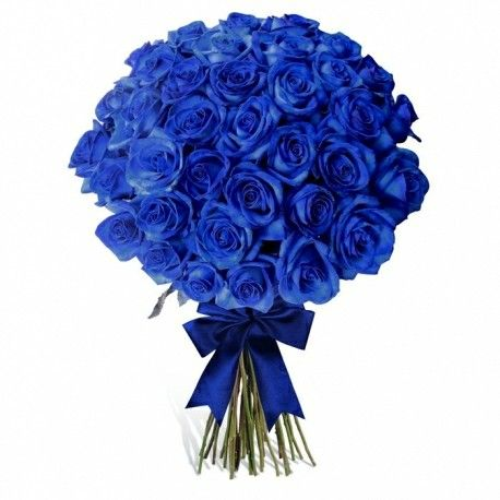Blue Roses Wedding Bouquet