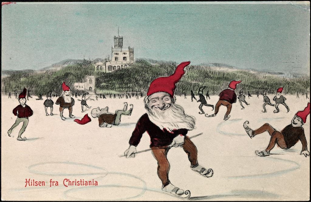 Vintage Color Christmas Elves