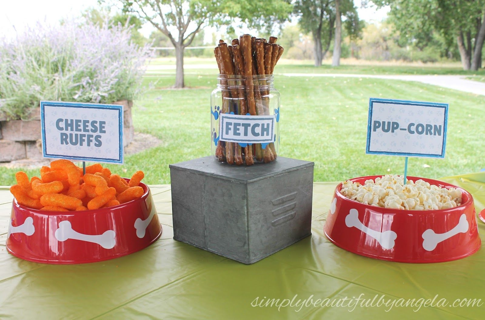 A Paw Patrol Birthday Party - Paw patrol birthday party, Paw patrol birthday, Birthday party snacks, Paw patrol party favors, Clifford birthday party, Birthday dinner party - Hello everyone! This past weekend we celebrated Tristan's FOURTH birthday! Holy cowI have a four year old  It's still sinking in  When I asked Tristan what kind of party he wanted, with no