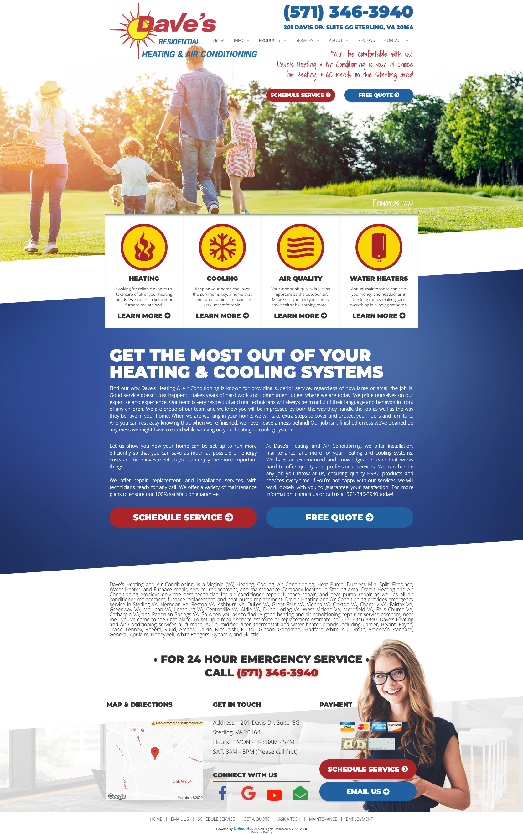 Contemporary Heating And Air Conditioning Website Design Classic Modern Clean In 2020 Modern Website Design
