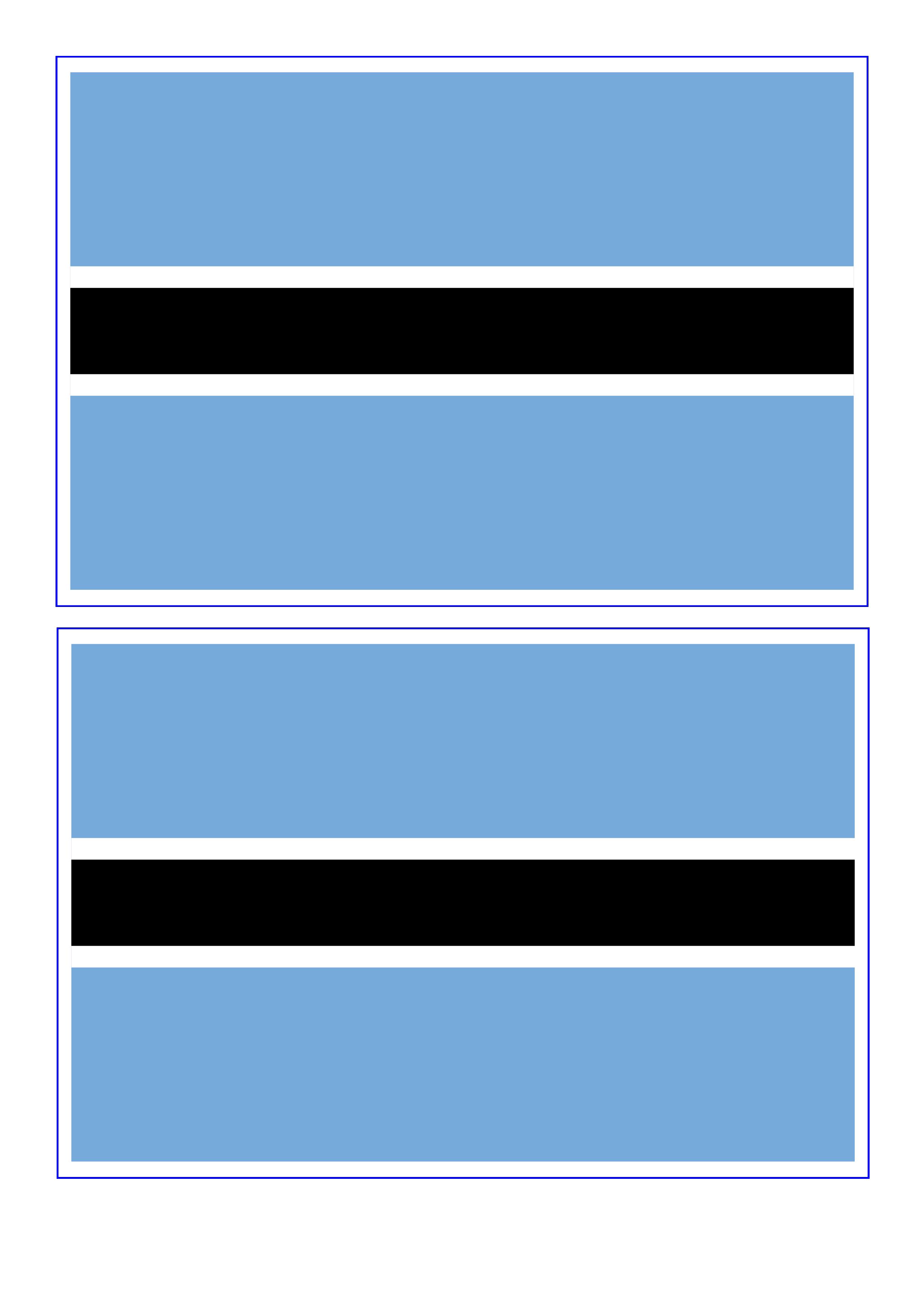 Botswana Flag Free Printable Botswana Flag Botswana Flag Flag Printable Flag Template