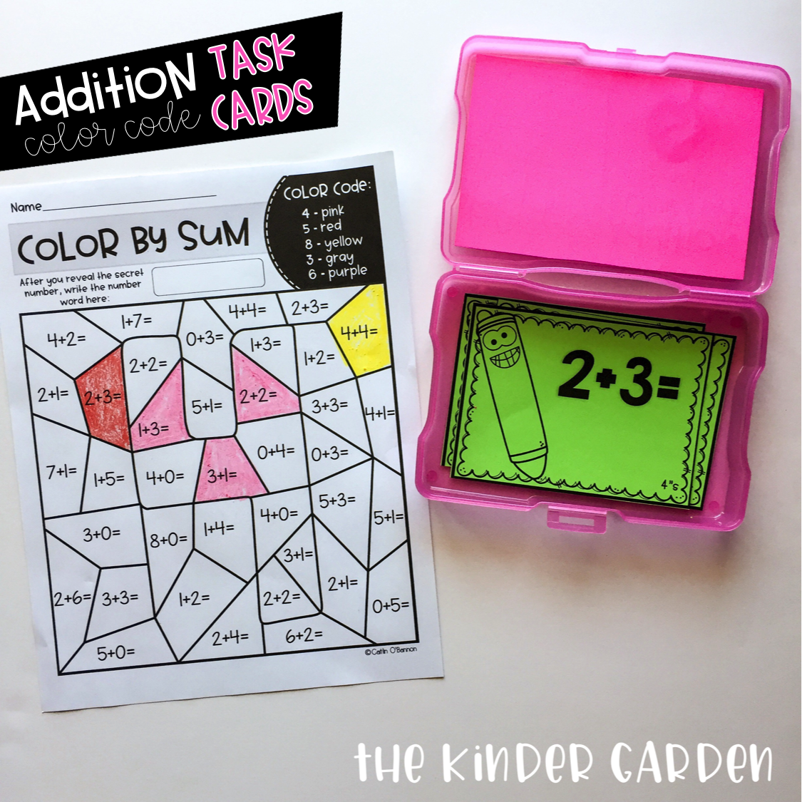 Addition Color Code Worksheets