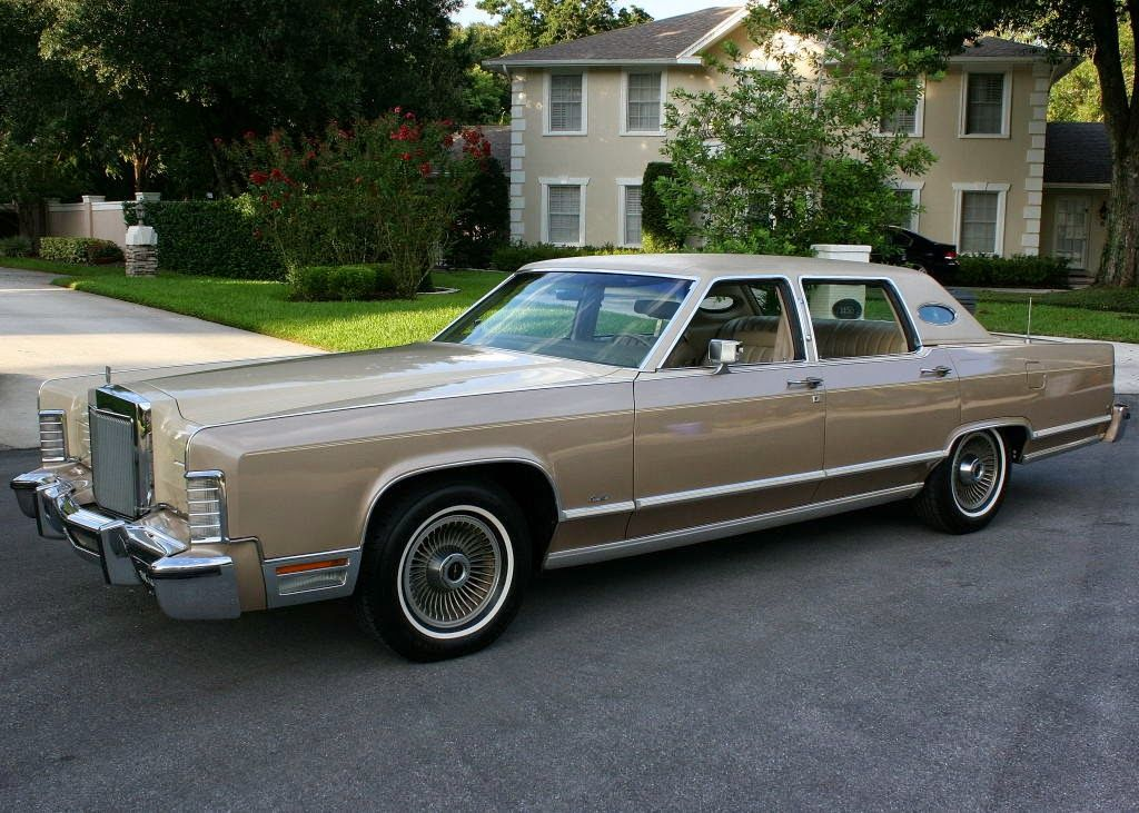 1978 Lincoln Continental Town Car 4 Door Sedan Automobile Ford