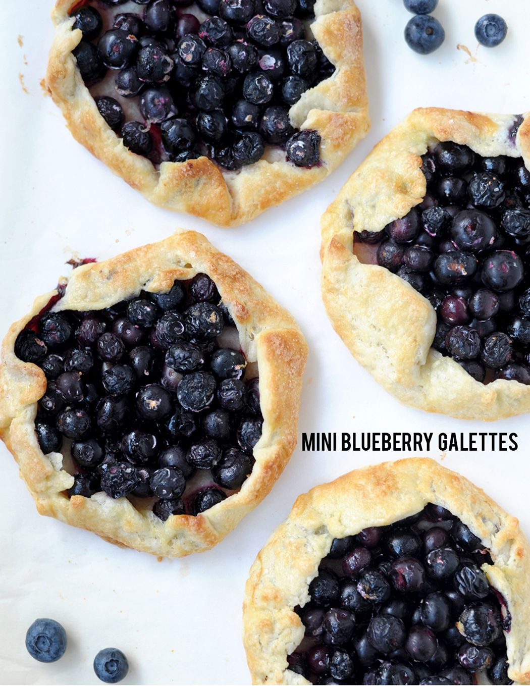 mini blueberry galettes recipe. so easy and so good!