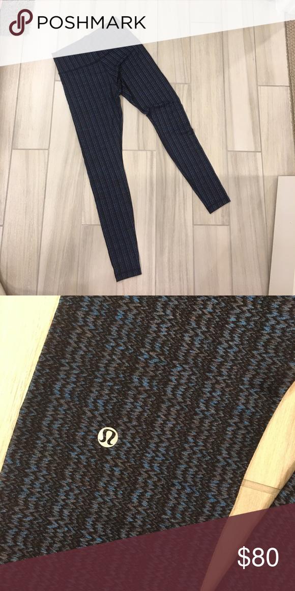 a970a8cd5 Lululemon Leggings Blue zigzag print Lululemon Leggings. Size 8. Worn only  once! lululemon athletica Pants Leggings