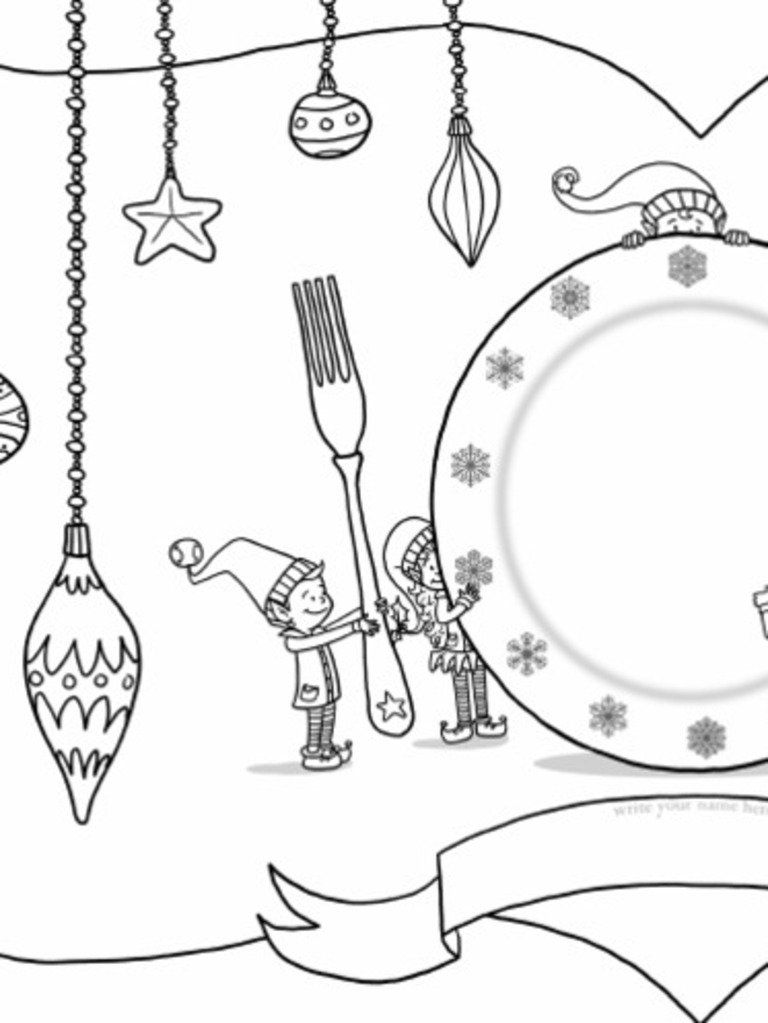 Colour Page Placemat Need An Activity For Kids To Do During Long Holiday Meals Here You Go Enjoy Christmas Placemats Coloring Pages Placemats