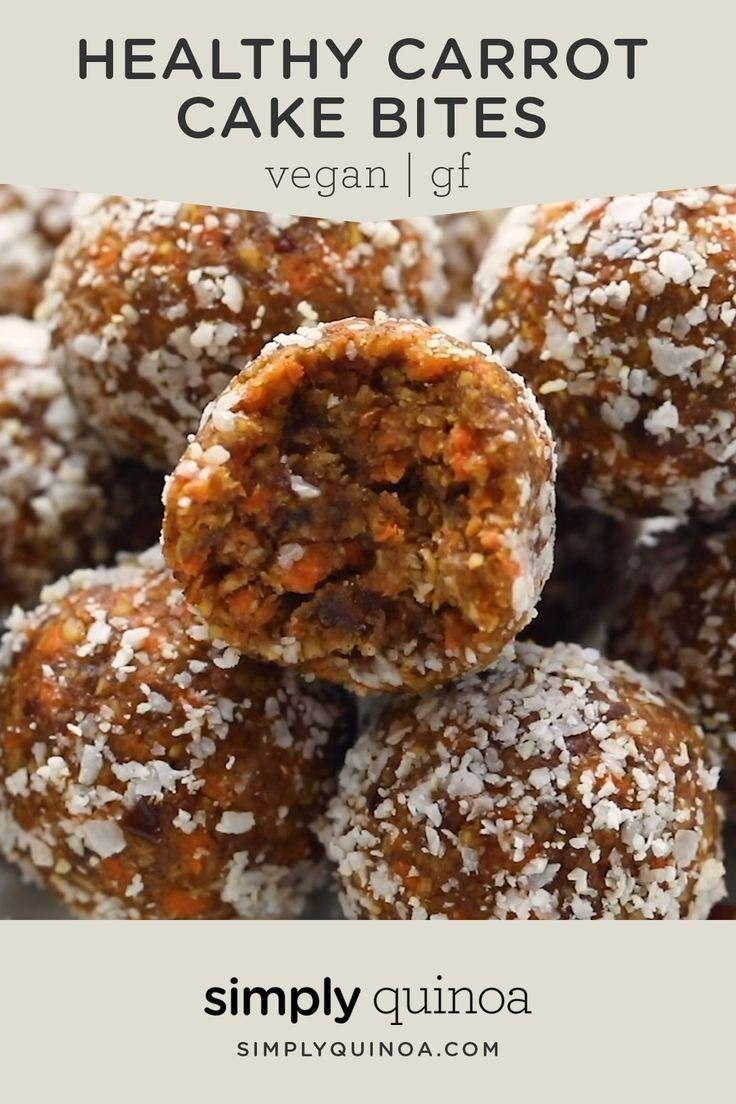Vegan Carrot Cake Bites | No-Bake & Healthy - Simp