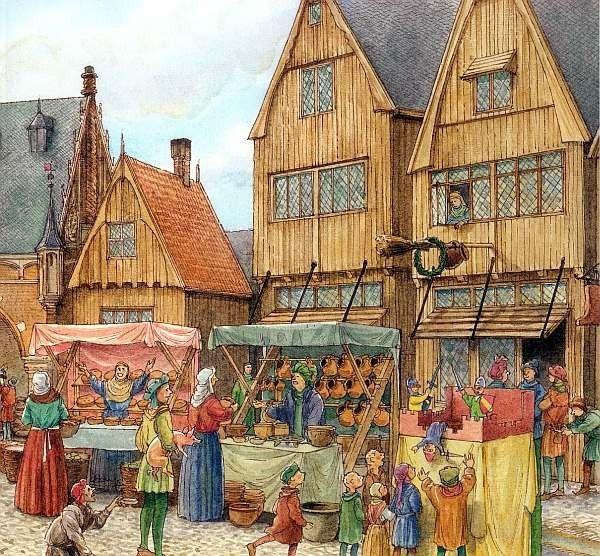 Картинка средневековая ярмарка
