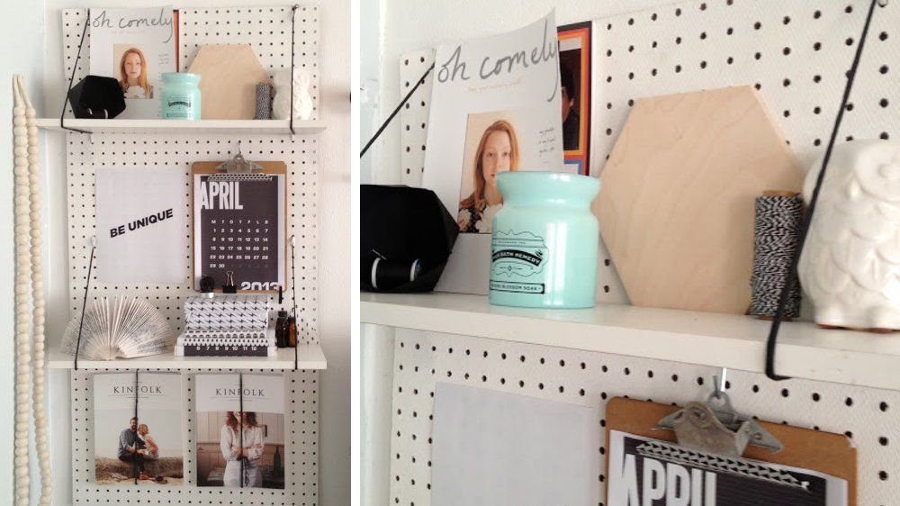 chambre tagere panneau perfor diy pinterest panneau perfor panneau et chambres. Black Bedroom Furniture Sets. Home Design Ideas