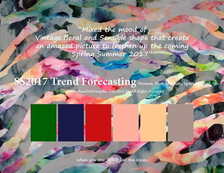 Fashion Forecasting 2017, Print inspiration, mood board ...