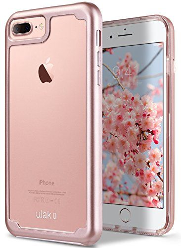 e5e68255e4 Amazon.com: iPhone 7 Plus Case, ULAK Hybrid Shockproof Flexible Soft Clear  TPU Case Colorful Frame Bumper Protective Cover for Apple iPhone 7 Plus ...