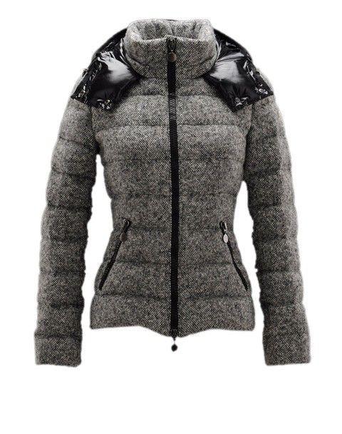 Moncler Damen Jacken Astere Grau Lausanne billig kaufen