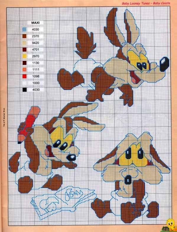 Looney Tunes Babies | Graficos y Esquemas en Punto de Cruz ...
