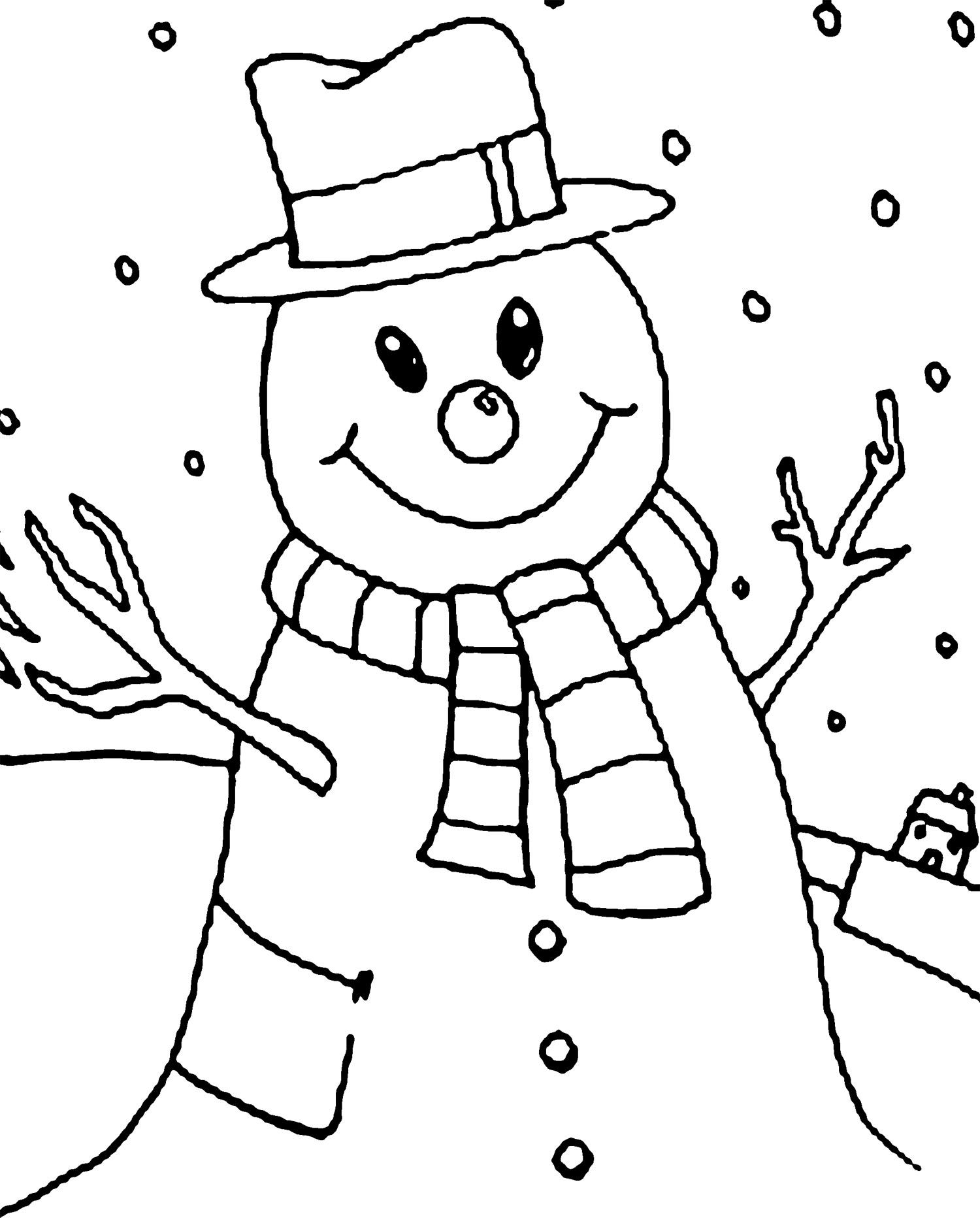 Winter Snowman Coloring Page | Winter | Pinterest