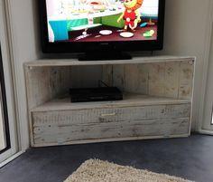 Meuble de tv en coin en palette recherche google meubles pinterest me - Meuble tv en coin design ...