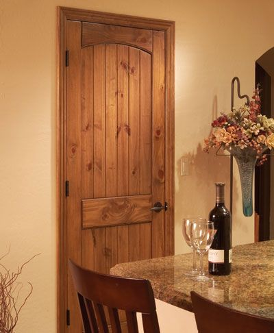 Knotty Pine Panel Arch Doors weu0027re putting throughout the house except ours are stained in Red Mahogany. So beautiful & Knotty Pine Panel Arch Doors weu0027re putting throughout the house ...