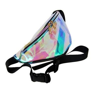 0ef48fc9157e 7 Colors Rainbow Transparent Bag Punk FANNY PACK Punk Bum Bag Chic ...