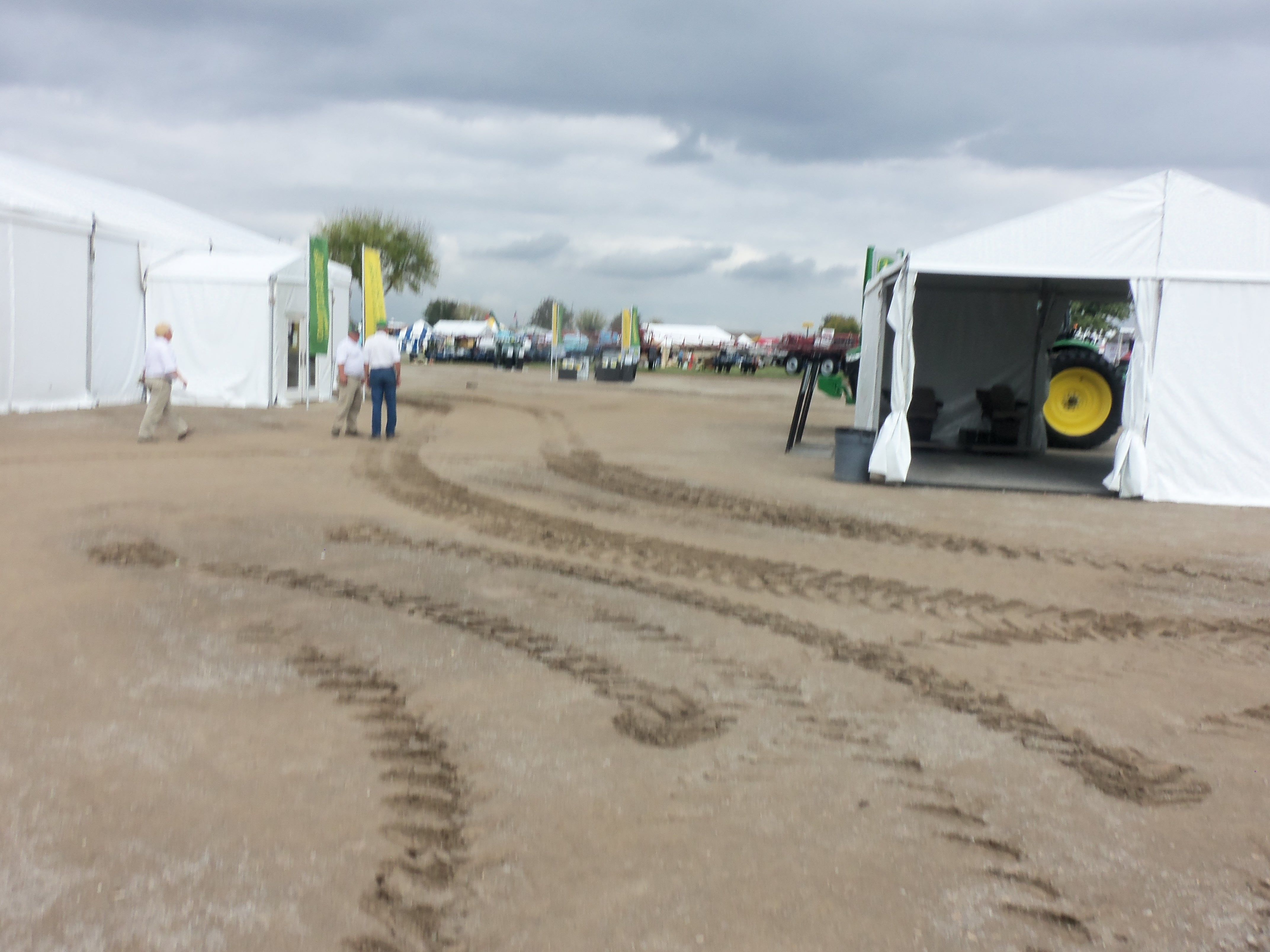 Empty John Deere exhibit at the conclusion of the 2013 Ohio Farm Science Review