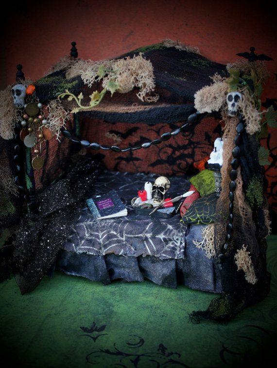 Dollhouse Miniature Witch Haunted House or by