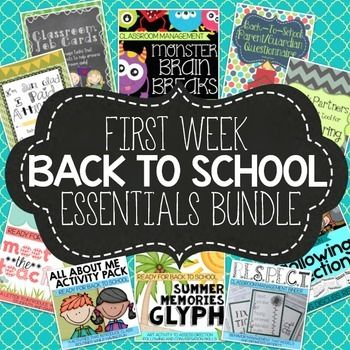 This bundle features products that will boost parent communication, establish a classroom job system, establish a behavior management system, reinforce classroom routines, help you learn about your students and sprinkle fun into your first week of school. | by Core Inspiration by Laura Santos