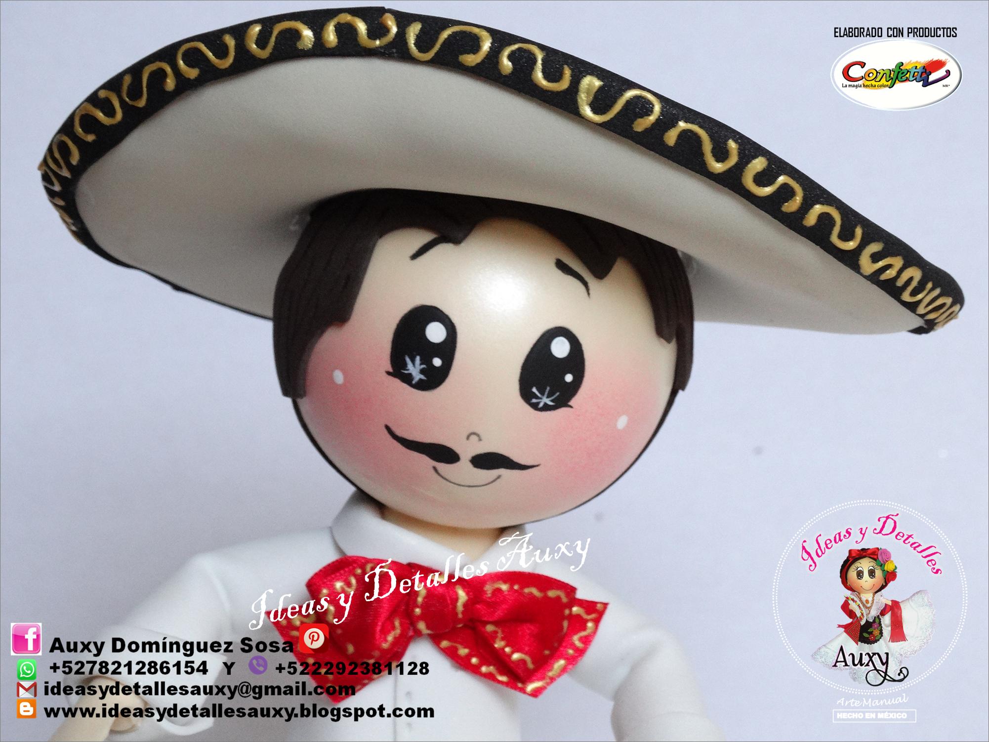 CHARRO MEXICANO CHARRO FOFUCHO VIVA MEXICO! CENTRO DE MESA FIESTA MEXICANA b80d15bf167