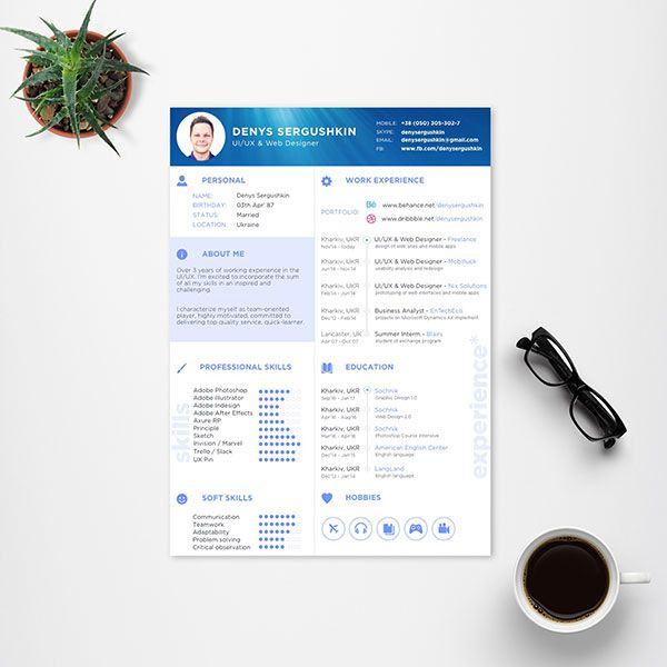 free resume template for uiux web designer 4 - Web Design Resume