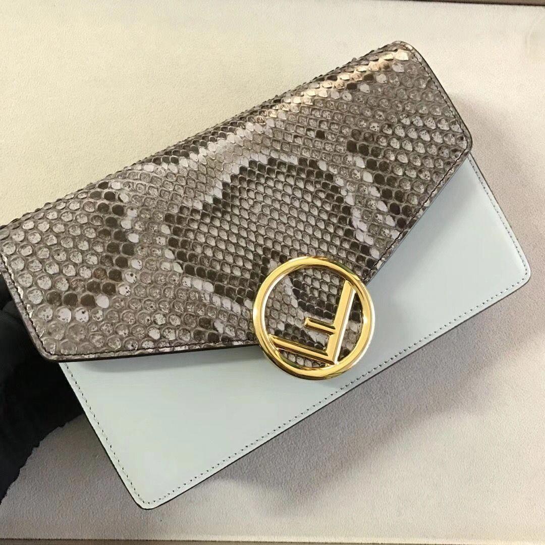 Fendi f is fendi wallet on chain bag in pythoncalfskin