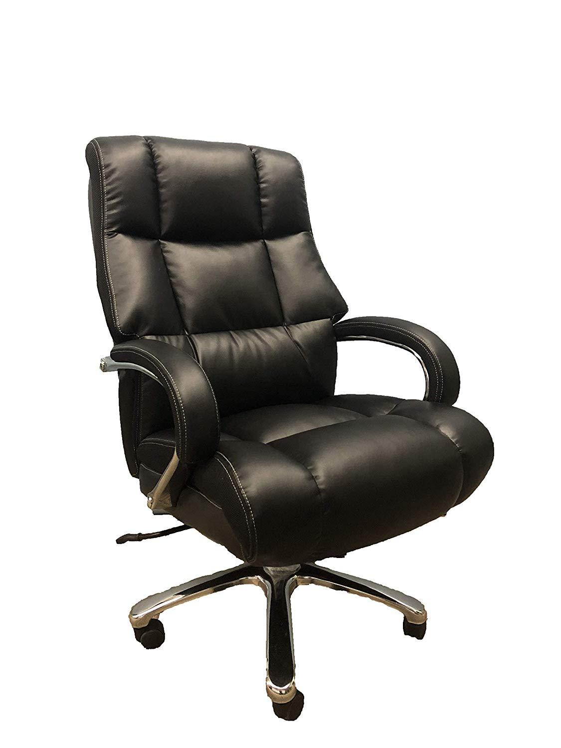 Big And Tall Black Comfort Executive Office Chair With Extra Thick Padded Chrome Arms Comfy Chairs Chair Office Chair