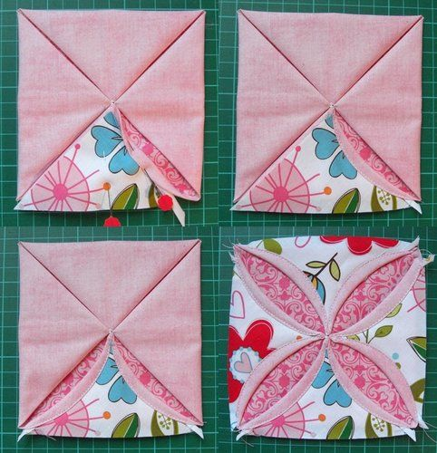 Riley Blake Designs -- Cutting Corners: Cathedral Window ... : cathedral quilt block pattern - Adamdwight.com