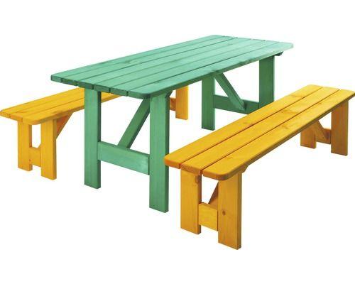 Set Robusto Kiefer 6 Sitzer 3 teilig grün gelb